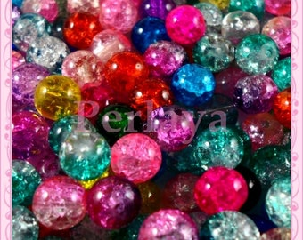 Mixed with cracked glass 8mm REF823 200 beads