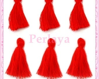 Set of 20 Red tassels & 3cm REF2499 2411