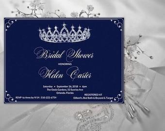 Princess Bridal Shower Invitation, Crown Bridal Shower Invitation, Bridal Shower Invites, Bridal Shower Invite Printable