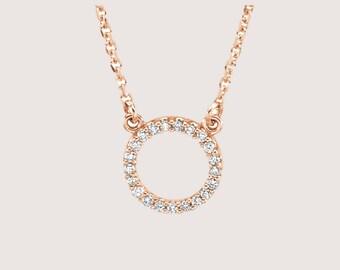 Real diamond necklace etsy elegant diamond circle necklace diamond necklace real diamond necklace circle pendant necklace mozeypictures Gallery