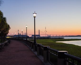 Photography, Landscape Photography, Photography Print, Color Photography - Charleston, SC Sunrise at Waterfront Park