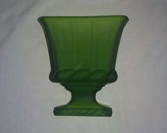 Vintage Indiana Glass Frosted Planter