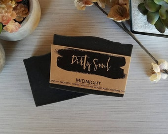 Midnight - MidSummer's Night Type | Cold Process Soap | Coconut Milk Soap | Palm Oil Free | Shea Butter, Cocoa Butter, Colloidal Oatmeal