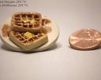 Playscale Waffles on a Plate