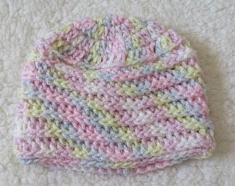 Iced Sugar ribbed crochet beanie