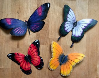 Hand-Drawn Butterfly Fridge Magnets