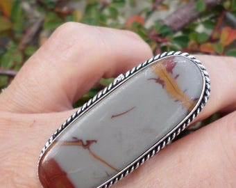 RING 925 sterling silver and Noreena Jasper