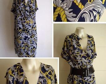 80's Nautical Dress (M)