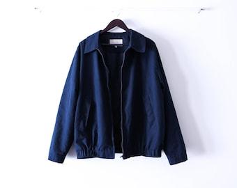 Vintage Dark Navy Zip-up Coat .Size L. Late 1990s