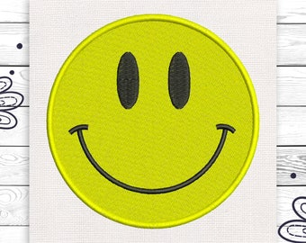 Happy smile embroidery Smile embroidery Discount 10% Digital embroidery design 4 sizes INSTANT DOWNLOAD EE5064