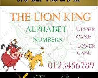 Lion King Letters Etsy