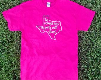 Hurricane Harvey Shirt - Flood Relief Fund Shirt - Texas Strong Shirt - JJ Watt Flood Relief Foundation Support - Harvey Relief Shirt
