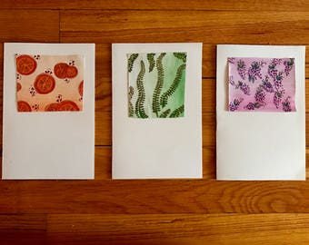 Handmade Greeting Cards- Set of 3