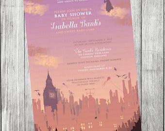 Mary Poppins Invitation