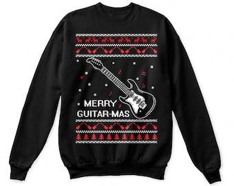 Guitar shirt, guitar christmas shirt, guitar gift, guitar sweater, guitar sweatshirt, guitar tshirt, shirt for guitar lover, gift for guitar