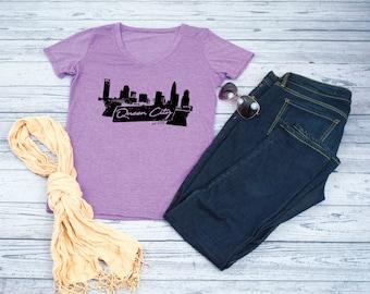 Charlotte Shirt - Charlotte Skyline - Queen City - Skyline Shirt - Charlotte Skyline Shirt - Charlotte  - Charlotte NC - Skyline