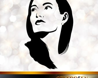 Angelina Jolie Silhouette, artist silhouettes, celebrity silhouette, famous people
