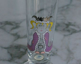Ritzen Hoff beer ellen Wittfield artist glass le/Kölsch rod/Queen Princess motif/Pils old glass like new!