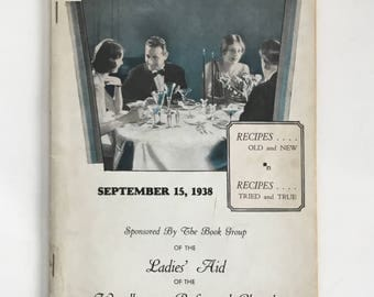 Vintage 1938 The Book Group Ladies Aide Woodbourne Reformed Church of New York Recipe Book