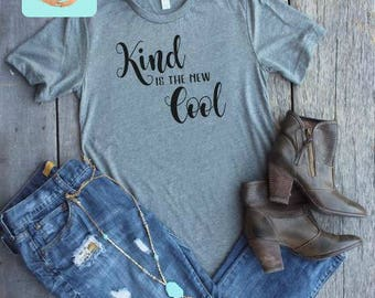 Love Kindness Acceptance T-Shirt - Kind is the new Cool - ADULT T-Shirt or Tank Top