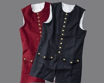 Mid 18th Century Wool Waistcoat w/ Working Pockets