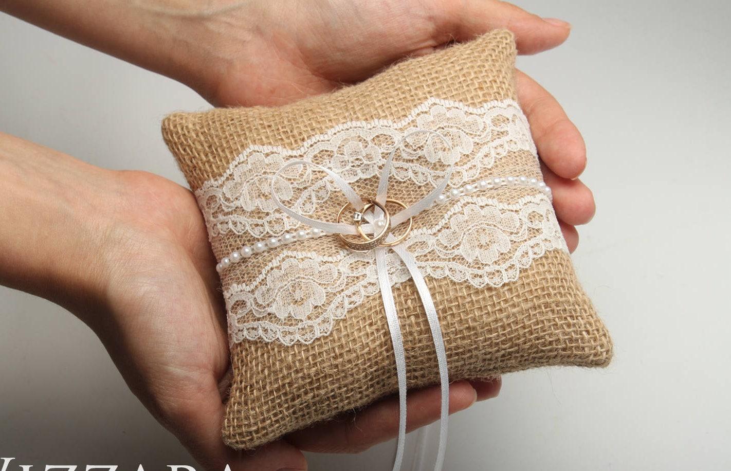 🔎zoom & wedding ring pillow rustic wedding ring bearer ring pillow pillowsntoast.com