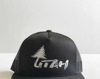 Lone Tree Utah Black Mesh Hat