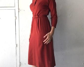 1950's Handmade Dress | Vintage Women's Sheath Dress | Women's Vintage Handmade Dress | 50s Dress
