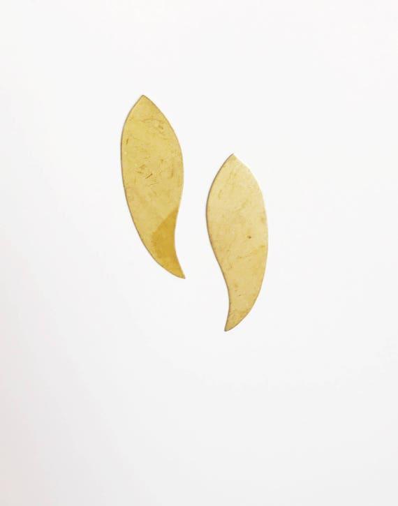 Leafy Post Earrings