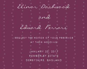 Dashwood Greenery Invitation