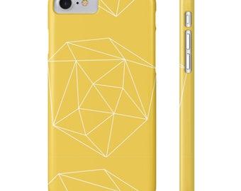 Geometric Mustard iPhone Case, Geometric Phone Case, iPhone 7 Case, Minimalist iPhone Case, Yellow iPhone Case, iPhone Accessories, Tech