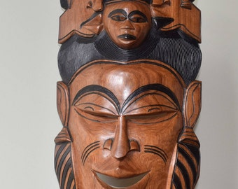 Five Faces of Africa Carving