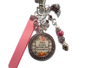 "Jewel of bag-door-key/Baker / ""for the nicest of the bakers"" / gift"