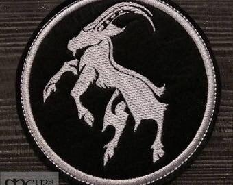 Patch Goatmoon logo black metal band.