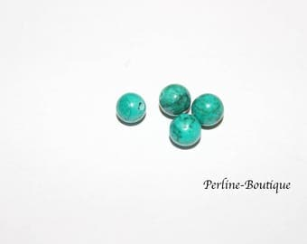 4 6mm turquoise round beads