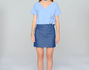 Skirt - denim blue
