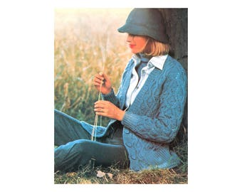 Cable Cardigan Knitting Pattern