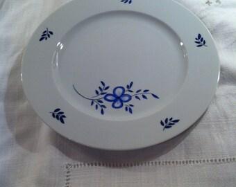 Assiette porcelaine  Diamètre 26 cm peinte à la main