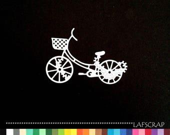 1 cut dscrapbooking bike basket flower conveys scrapbooking embellishment die cut scrap album deco