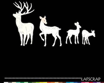 lot cutouts scrapbooking scrap deer DOE Fawn animal forest cut paper embellishment die cut creation