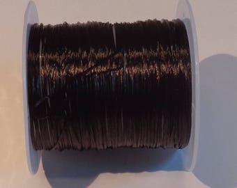 Fil élastique marron en 10 mètres