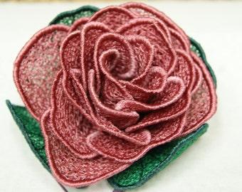 Purple Rose Lace Rose