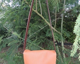 leather straps hand stitched bag