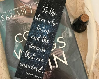 A Court of Mist and Fury Bookmark, Sarah J Maas Bookmark, Quote Bookmark, Feysand Bookmark, Bookworm Bookmark, Book Lover, Literary Gifts