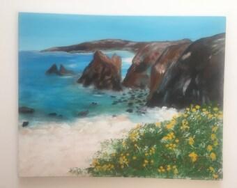 Seascape, rocks, water and landscape meet in one scene