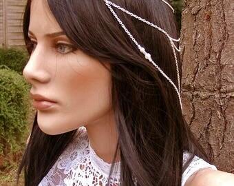 Jewel head silver tiara and pearls Yuka