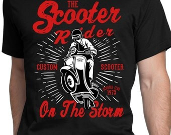 Rider Ty shirt Scooter custom scooter