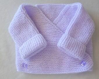 wrap-wool baby vest