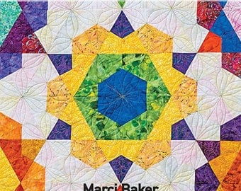 Rose Star quilt pattern by Marci Baker
