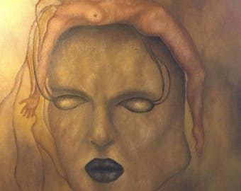 Surrealistic oilpainting, surrealism, psychedelic art, figurative art